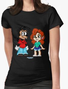 Goofy Movie - Max and Roxanne Pixel Art Womens Fitted T-Shirt