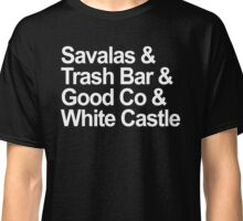 Savalas, GoodCo, Trash Bar, White Castle nostalgia tee Classic T-Shirt