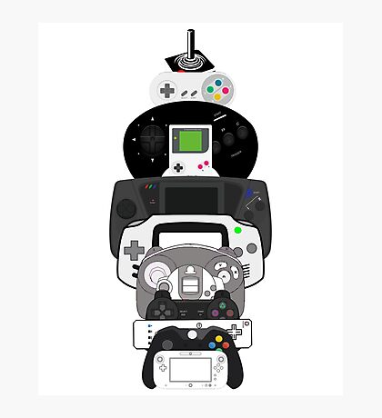 video games controllers Photographic Print