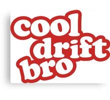 Cool drift bro - red Canvas Print