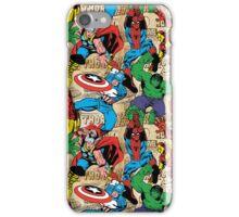 Marvel, avengers pattern iPhone Case/Skin
