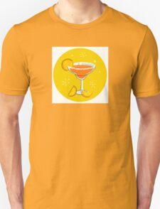 Orange retro drink with fruit. Vector cartoon Illustration Unisex T-Shirt