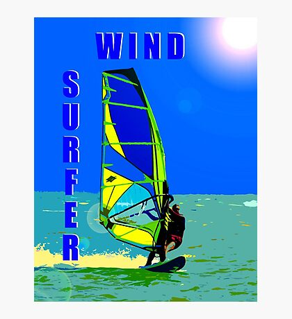 Wind Surfer Photographic Print
