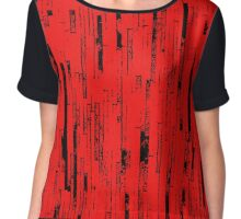 Line Art - The Bricks, black and red Chiffon Top