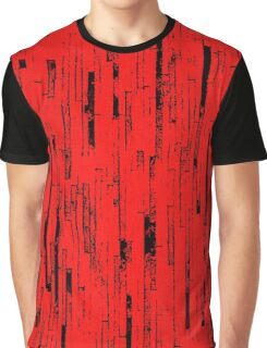 Line Art - The Bricks, black and red Graphic T-Shirt