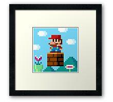 pixel World Framed Print