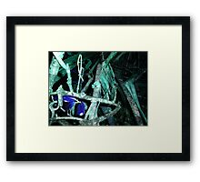 Frog in Turquoise Framed Print