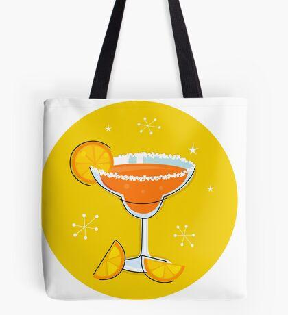 Orange retro drink with fruit. Vector cartoon Illustration Tote Bag