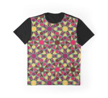 Spanish Director - Al-Nasir Pattern Red with Green Lines Graphic T-Shirt