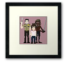 The Walking Dead - Rick, Carl and Michonne Framed Print