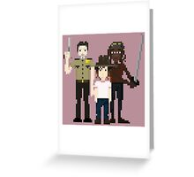 The Walking Dead - Rick, Carl and Michonne Greeting Card