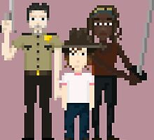 The Walking Dead - Rick, Carl and Michonne by pixelwits