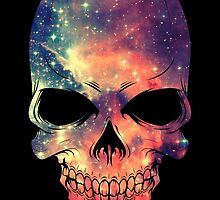 Universe - Space - Galaxy Skull by badbugs