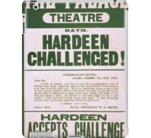 Performing Arts Posters Hardeen challenged Hardeen accepts challenge Friday Jan 05 2053 iPad Case/Skin