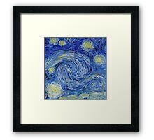 Starry sky: Vincent-like Framed Print