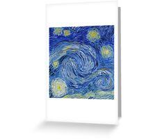 Starry sky: Vincent-like Greeting Card