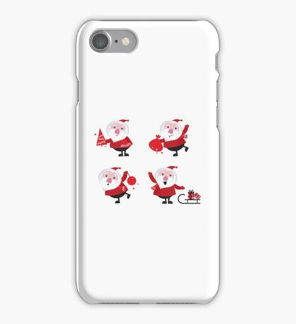 Vector Santas in various poses collection iPhone Case/Skin
