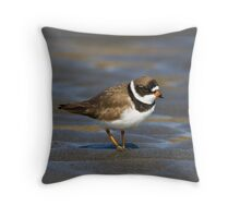 Friendly Plover Throw Pillow