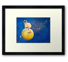 Sailing the Moon Framed Print