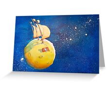 Sailing the Moon Greeting Card