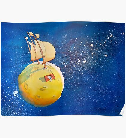 Sailing the Moon Poster