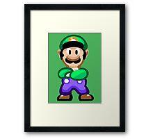 Luigi 16 Bit Framed Print