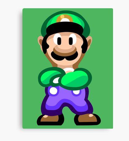 Luigi 16 Bit Canvas Print