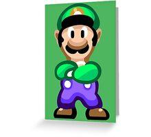 Luigi 16 Bit Greeting Card