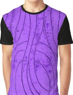 Line Art - The Curves, purple Graphic T-Shirt