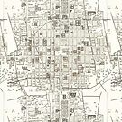 Map of Mexico City, 1785 by caitlin2006