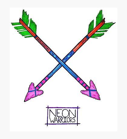 Neon Warriors Arrows  Photographic Print
