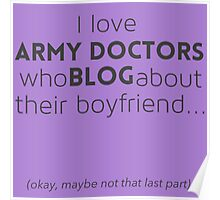 Army doctors that blog about their boyfriend Poster