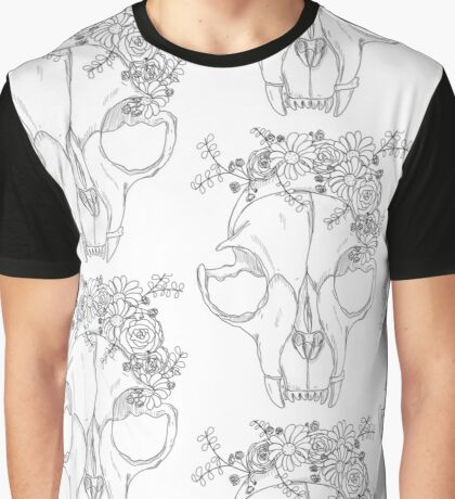 Rest in Pieces - Black and White Graphic T-Shirt