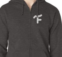 Small Print Branded Zipped Hoodie
