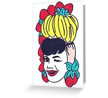 Carmen Miranda - Fruit Hat Greeting Card