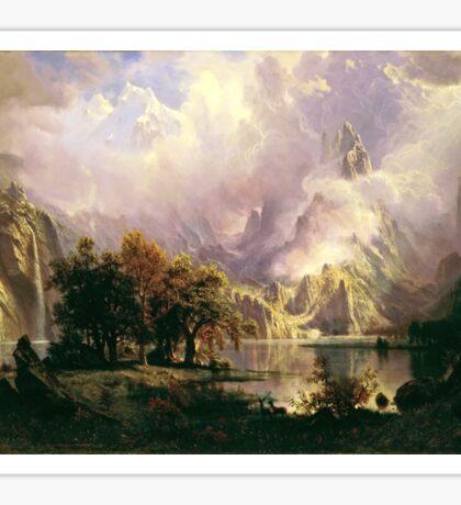 Albert Bierstadt - Rocky Mountain Landscape Sticker