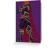 Ganondorf Typography Greeting Card