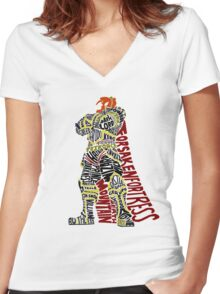Ganondorf Typography Women's Fitted V-Neck T-Shirt