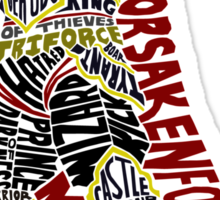 Ganondorf Typography Sticker