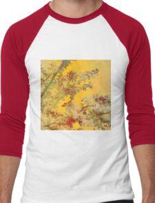 Almond Blossoms Red Orange Men's Baseball ¾ T-Shirt