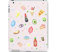 Nineties Stickers Redone - Sriracha and Rupees.  iPad Case/Skin