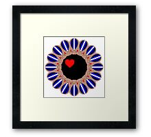 Leather Pride Sunflower Framed Print