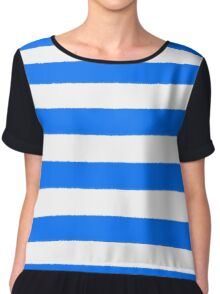 Hand drawn sailor stripes, seamless pattern Chiffon Top