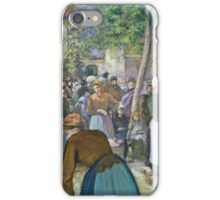 Camille Pissarro - Poultry Market at Gisors (1885)  iPhone Case/Skin