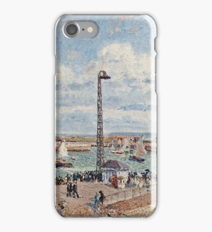 Camille Pissarro - The Pilots Jetty at Le Havre (1903)  iPhone Case/Skin