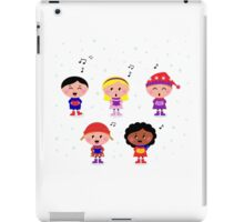 Little multicultural Kids singing Christmas Carol iPad Case/Skin