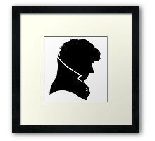 Silhouette of a Man  Framed Print