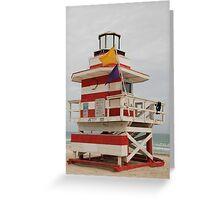 lifeguard tower Greeting Card