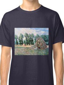 Claude Monet - Haystacks (1885)  Classic T-Shirt