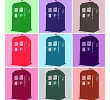 Warhol Inspired Public Police Call Box Photographic Print